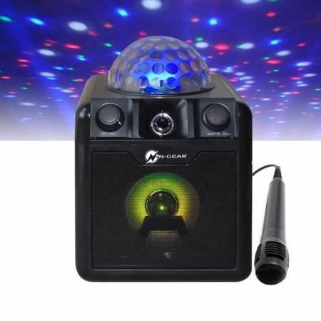 N-Gear Disco Block 410 - głośnik Bluetooth z kulą Disco oraz mikrofonem Karaoke